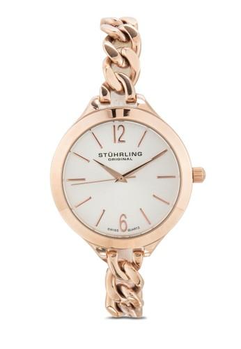 Stuhrling Original 624M.03 Vogue 鏈帶圓esprit台灣官網框女錶, 錶類, 飾品配件