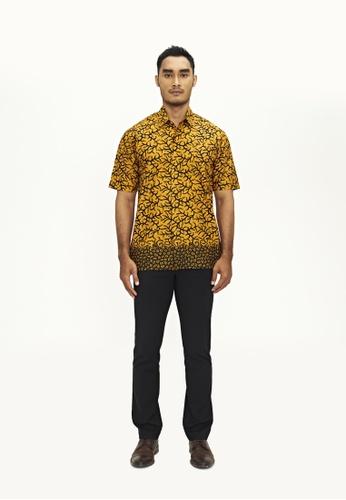 TUSCA yellow Eusoff Classic Batik Shirt 8F46AAA4D786D9GS_1