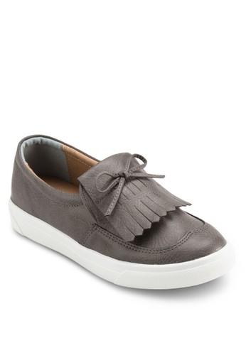 流蘇皮革休閒懶人鞋, 女鞋, esprit 眼鏡鞋