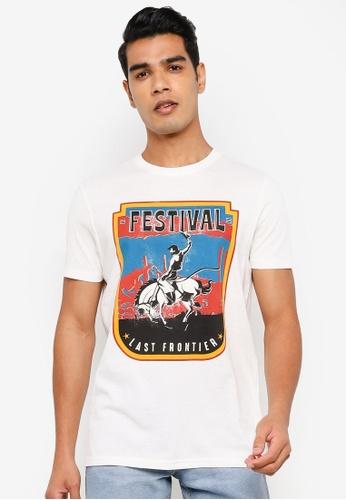 Springfield white Cowboy T-Shirt 09D4DAACC7CD10GS_1