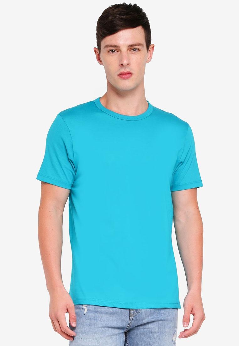 Shirt Aqua Blue Topman Classic T nfTxEE