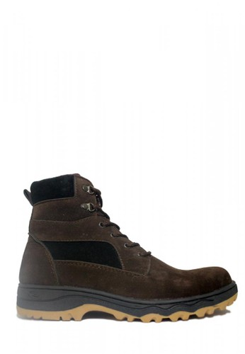 D-Island brown D-Island Shoes Safety Boots Rocky Suede Dark Brown 3CD68SHA6AC91AGS_1