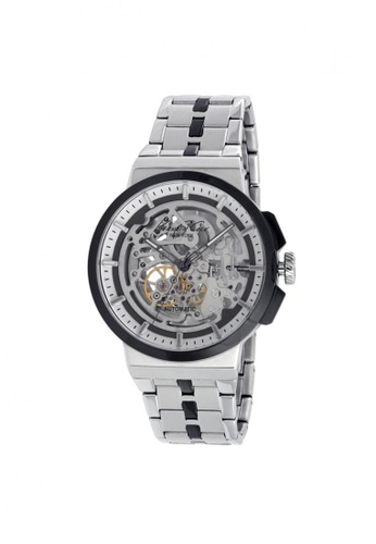 Kenneth Cole silver Kenneth Cole Automatic Silver Skeleton Dial Watch KE854AC23NOYSG_1