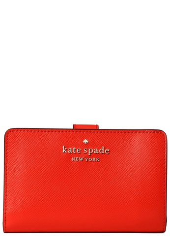 Kate Spade red Kate Spade Staci Medium Compact Bifold Wallet in Gazpacho C11D1AC3E325B3GS_1