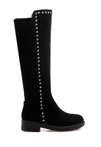 Twenty Eight Shoes black Studs Suede leather Knee Boots VB9045 F5C2BSH4A734FAGS_1