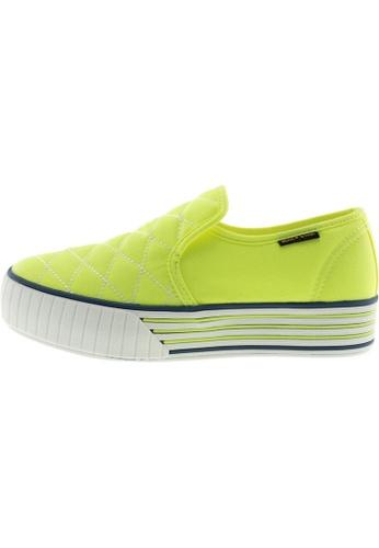 Maxstar 綠色 新款韩国鞋C30-Stitch時尚帆布布混合女綠色 US Women Size MA345SH05HEOTW_1