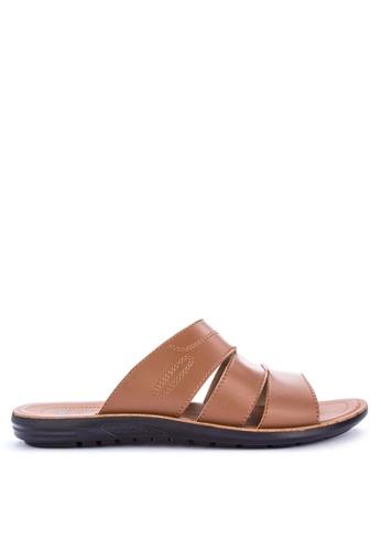 H2Ocean brown Achilles Sandals 442BASH082AC3FGS_1