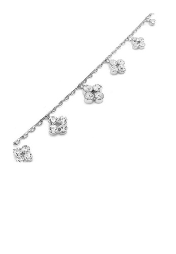 Glamorousky silver Simple Anklet with Silver Austrian Element Crystals 3DD5BAC4B1E0B1GS_1