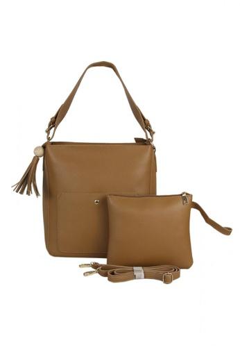 DNJ brown Rica Vogue Tote Bag DN487AC0JOFOPH_1