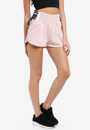Ivy Park pink Lace Up Back Logo Shorts 9803AAAA01B43DGS_1