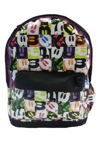 Disney Minnie Disney Minnie Mouse Black Travel Backpack (13-INCH) 72E24KC4FAE6D9GS_1