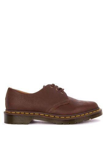 Dr Martens brown 1461 3 Eye Shoe EFD31SH4CE15BEGS_1