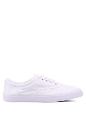 Burton Menswear London white White Mesh Plimsolls 3F83DSHC3E3C79GS_1