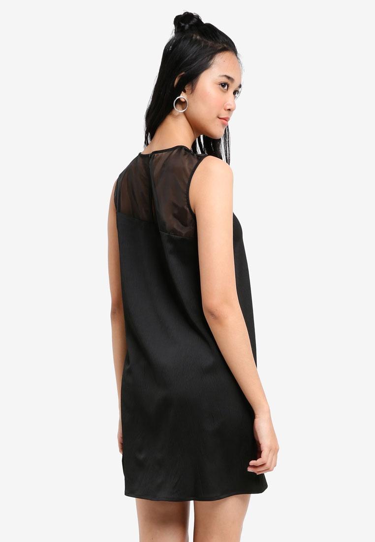 Something Borrowed Dress Sleeveless Swing Black Asymmetric qFS7tt
