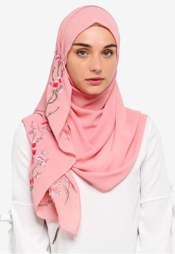 Najjah pink Shawl Sulam 5A80BAACCC84AFGS_1