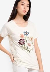 Desigual white Petunia Graphic Print Top DE160AA80TLVMY_1