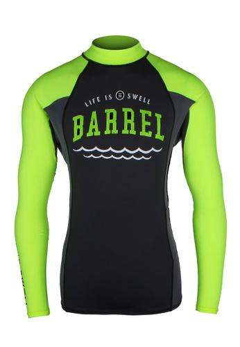 BARREL black and green Men's Swell Rashguard N.Yellow/black/Grey 31D86US2092B0AGS_1