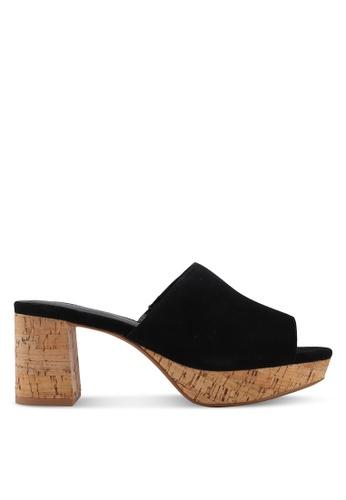 Mango black Heel Leather Mules E4E71SHD8B644EGS_1