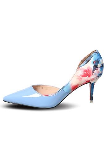 Sunnydaysweety blue 2017 Latest Printing Stitching Pointed Heels C022499BL SU443SH62HAVHK_1