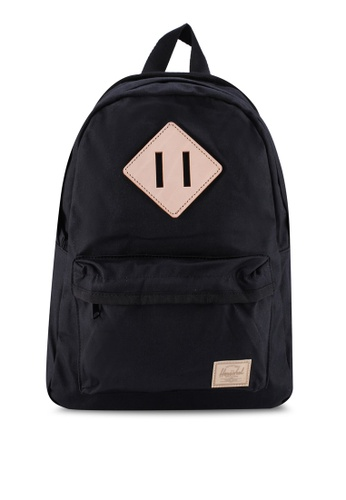 Herschel black Heritage Small Backpack 5A888AC2B9F031GS_1