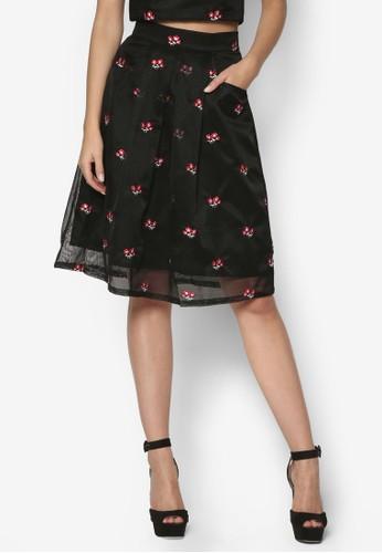 繡花層次及膝短裙, 服飾, 印花esprit 折扣時代