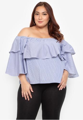 64b7953c948 Shop Hint Plus Size Off Shoulder Ruffle Blouse Online on ZALORA Philippines