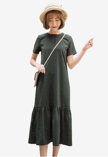 Tokichoi black Dotted Frill Hem Dress 037CCAA06A73A3GS_1