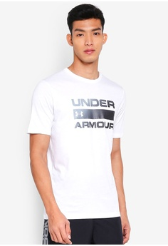 Under Armour Mens Blocked Sportstyle Short Sleeve Logo T-Shirt Top 37/% OFF RRP