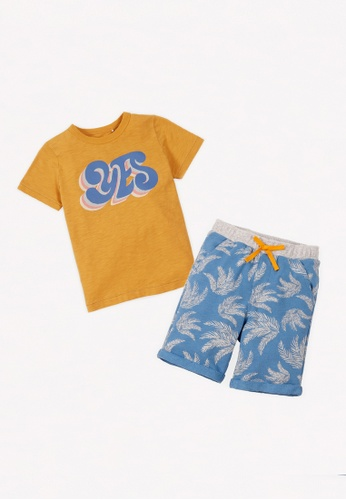 Gingersnaps multi Boys Summer Tshirt And Shorts Set 3F5CAKAD7ADEDDGS_1