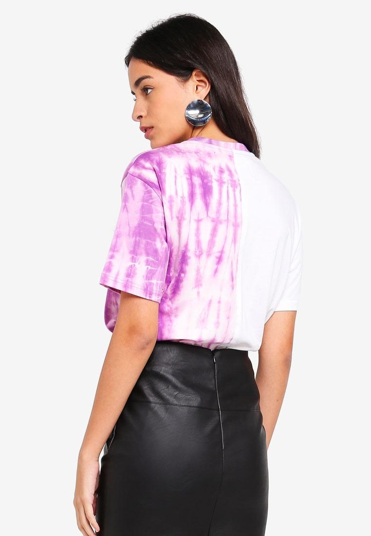 Barbie Shirt Spliced Purple Logo T MISSGUIDED pFqw7