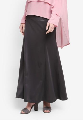 BYN grey Adjustable Long Skirt 2D003AA1A5A38CGS_1
