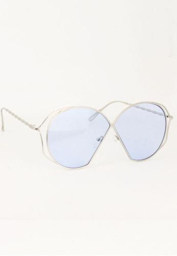 Amora Scarlett silver Raegan See Through Blue - Silver Lens Eyewear - Limited Edition AM058AC0SY20MY_1