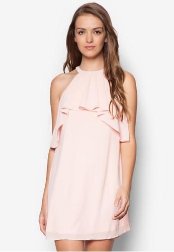 瀑布esprit taiwan垂墜領飾連身裙, 服飾, 洋裝