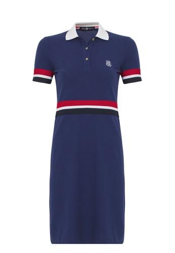 Jimmy Sanders 海軍藍色 Jimmy Sanders Women's Polo Dress with Waist & Handle Details C06BFAA91ED2F0GS_1