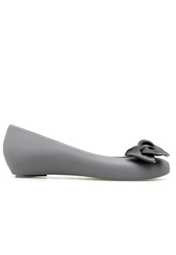 Halo 灰色 新款蝴蝶結魚嘴防水平底鞋 2133ESHCADA708GS_1