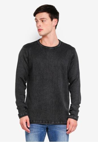 Indicode Jeans 黑色 長版針織衫 E63F8AA436F2FEGS_1