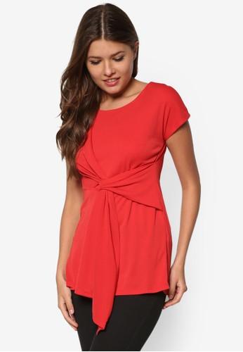 扭結短袖上zalora時尚購物網的koumi koumi衣, 服飾, 服飾