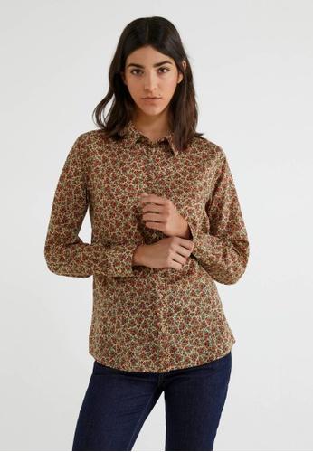 United Colors of Benetton brown Printed Shirt 77E6DAA9B728C1GS_1