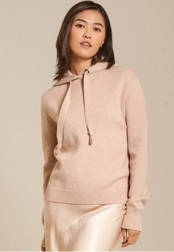 Dressing Paula beige Knitted Hoodie D8CFCAA915BF99GS_1