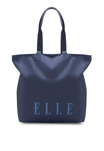 ELLE navy Theana Twin Handle Bag EL900AC84YNJMY_1