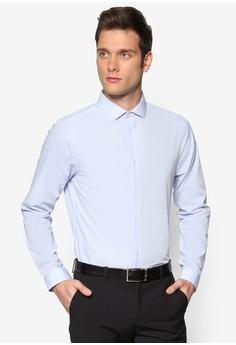 【ZALORA】 易熨燙貼身長袖襯衫