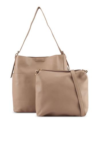 Perllini&Mel brown Faux Leather Shoulder Bag 94D90ACD3B78A6GS_1