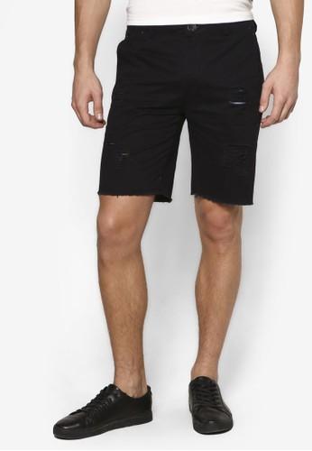 Resprit retailucker 刷破百慕達休閒短褲, 服飾, 服飾