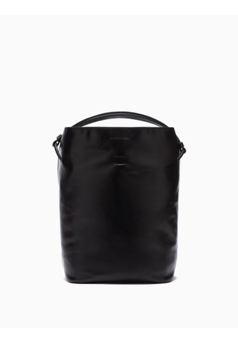 Calvin Klein black Leather Bucket Bag 61A86ACD20FFFDGS_1