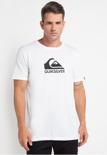 Quiksilver white and multi As Basic Logo T-Shirt 3B782AA40E1B73GS_1