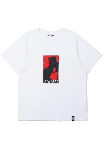 BLOCKAIT white X Batman silhouette tee C4636AAA273D94GS_1