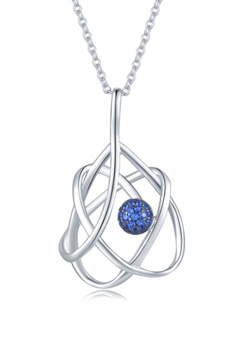 MBLife silver 925 Sterling Silver Blue CZ Drop Necklace 5675DACA0B798EGS_1