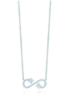 Double Diamond Infinity Necklace