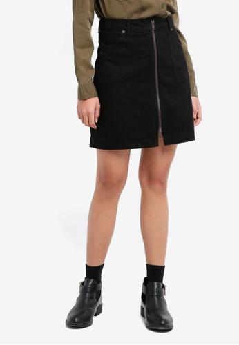 Jack Wills black Chartham Zip Up Skirt D83CAAA635801CGS_1