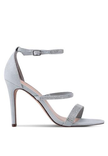 Dorothy Perkins silver Silver Becky Heel Sandals B8E6BSH84D49ACGS_1